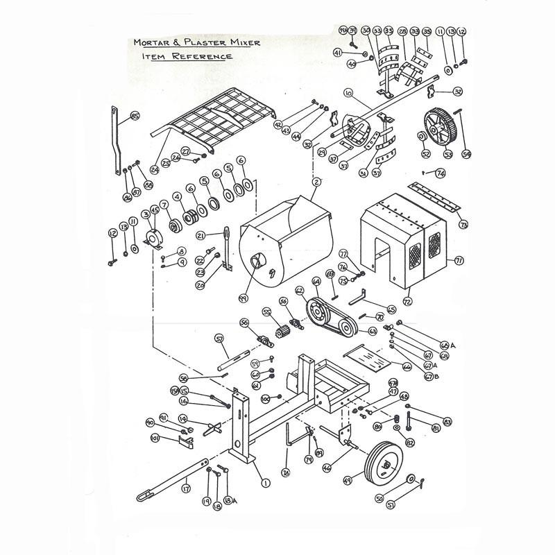 Stone 45PM Drum Assembly Parts | JobsiteParts.com