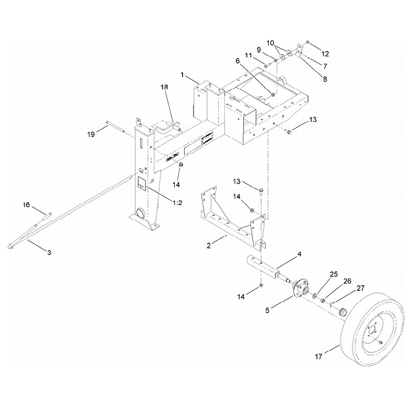 Stone Mm 655h P C Axle Assembly Parts